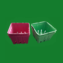 Custom fresh cherry berry baskets, Renewable pllant pulp fruit tray packing