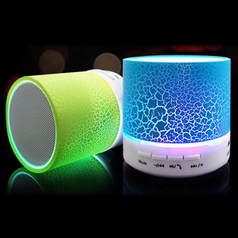 LED MINI Portable Wireless Crack Bluetooth Speaker A9 TF USB Music Sound Subwoofer Box