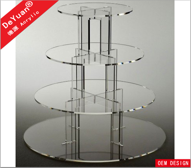 Transparent square acrylic jewelry display stand set