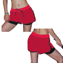 Hot sale summer top quality solid color plain soft cotton dry fit womens compression shorts
