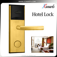 Widely used hotel door lock system security lock with stainless steel housing
