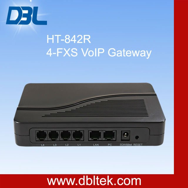 4 ports sip proxy server/4 ports fxs gateway(HT-842R)