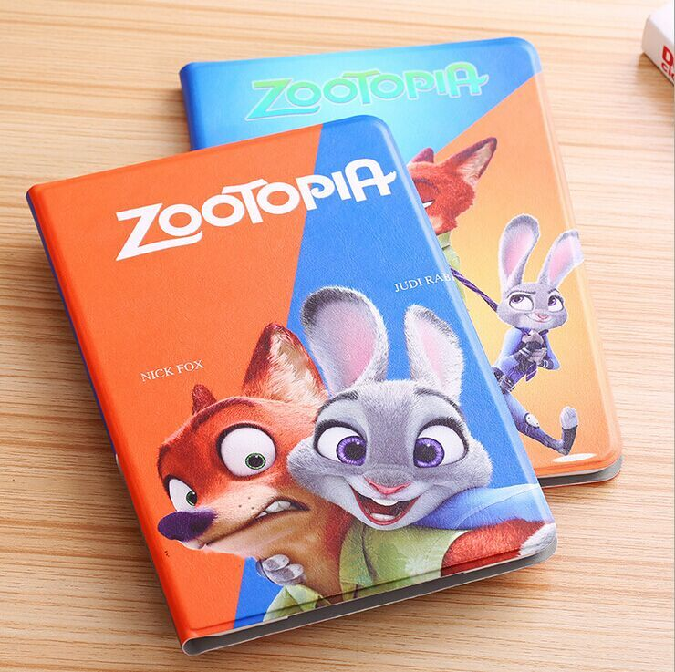 2017 Hot Movie Zootopia Slim Smart Leather Case Cover for Ipad Air/Air 2/ipad mini1/2/3/4 Smart Cover