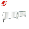 Powder coated steel temporary crowd control barrier
