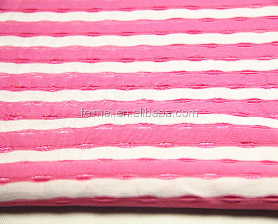 China textile yarn dyed stripe knit jacquard fabric for lady's clothing