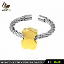 Stainless Steel Adjustable Size Twisted Cable Ring Muti-type Jewelry for Selection