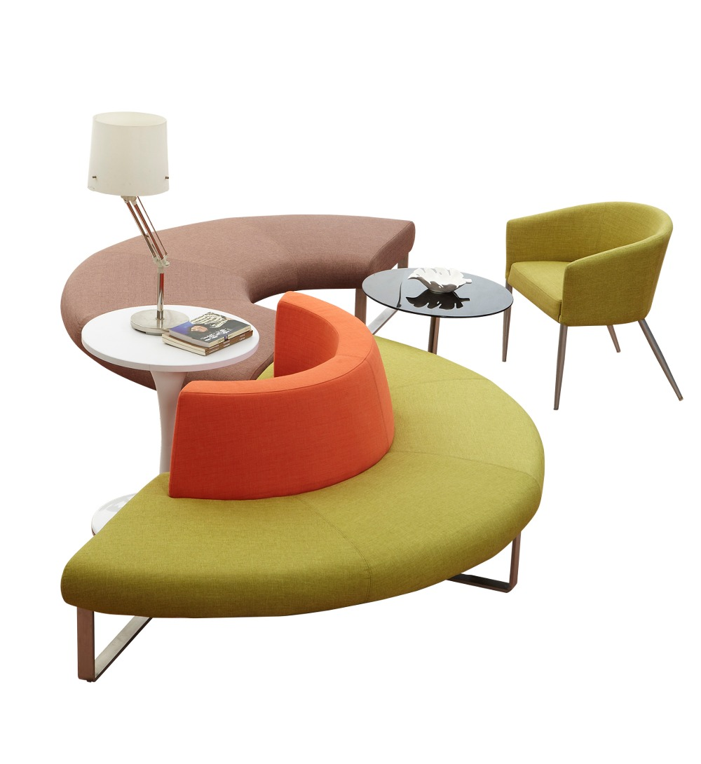 Multiple Colors Fabric Office Modular Sofa Contemporary