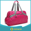 Custom pink holdall,lightweight weekend bag,folding duffel bag