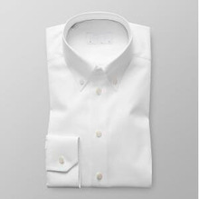 Direct factory shirts men 3 button collar french cuff white oxford funky dress shirts