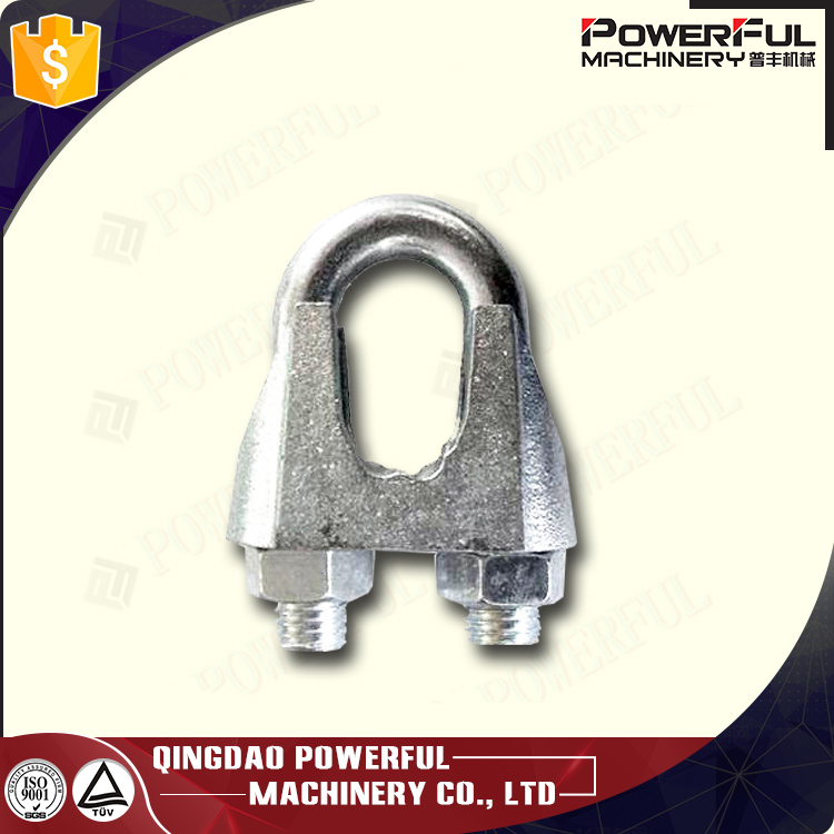Galvanized iron steel US Malleable Wire Rope Clip German standard malleable wire rope clip