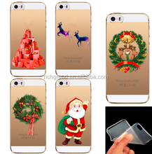 Christmas Phone Cases for iPhone 5 5S 6S Case TPU Silicon Transparent Crystal Back Skin Case
