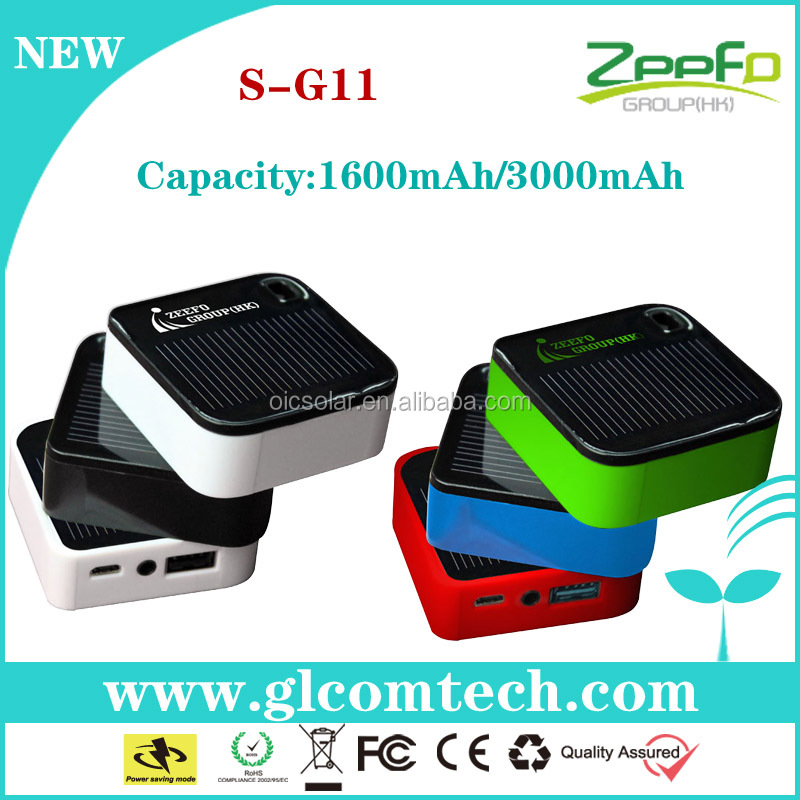 3000mah portable material used for solar charger for mobile phone with led flashlight