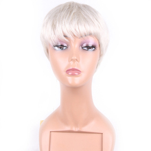 2017 Popular hot sale overnight delivery silver white wig for black women