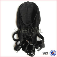 Soft and smooth 22 inches 120 gram human hair half wig