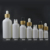 5ml 10ml 15ml 20ml 30ml 50ml 100ml matte White black Frosted Glass Bottle with Bamboo dropper lid