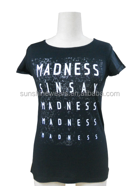Ladies' common printed T-shirts