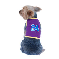 Dog Purple Lakers 24 Mesh Jersey pet clothes Summer Tank top