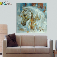 Animal canvas art horse painting animal oil painting for living room decoration