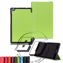 Fashionable Popular Three Folds Ultrathin Stand PU Leather tablets cases For Lenovo TAB2 A8-50 fast delivery