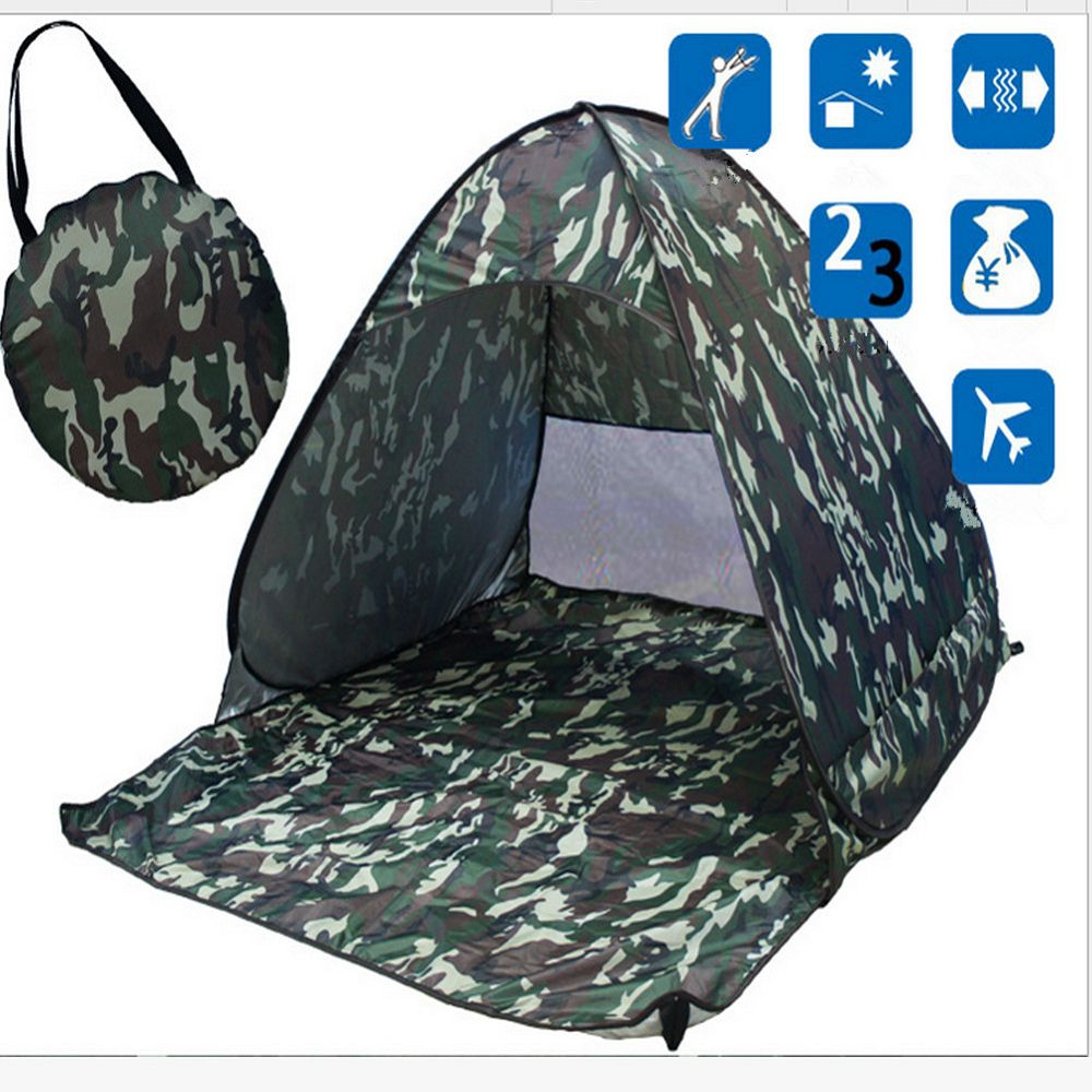 2016 Portable Instant Tent Outdoor 2-3 Persons Quick Automatic Pop up Instant Cabana Beach Rain Tent Camping