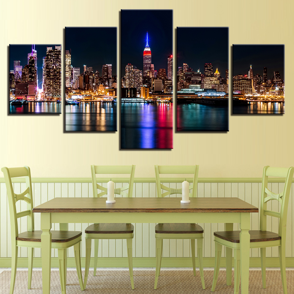 Canvas Painting Living Room Wall Art Frame HD Print 5 Pieces New ...