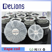 2016 Most Fashionable Coil Box Vape Wire Clapton/Hive/Tiger/Quad/Flat Twisted/Mix twisted/Fused clapton In Delions