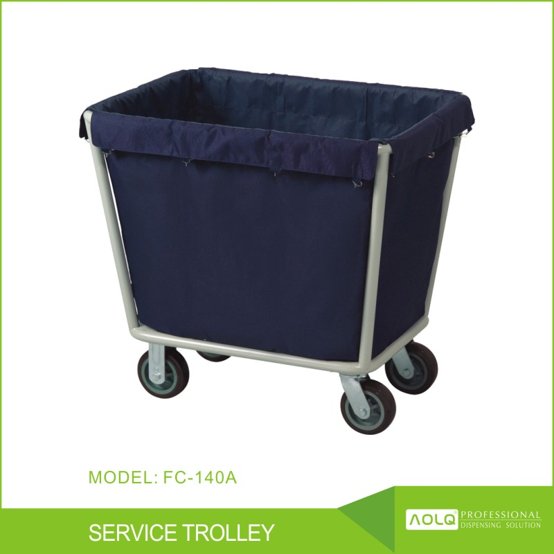 Hospital & Hotel Dirty Linen Trolley, Stainless Steel housekeeping trolley cleaning cart maid cart