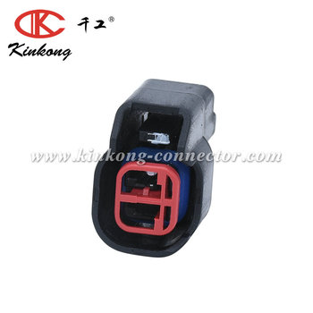 kinkong AUTO CONNECTOR EQUIVALENT 2 Pin EV6 FEMALE FUEL INJECTOR CONNECTOR for Ford