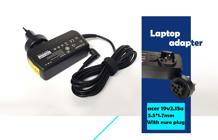 universal AC 100-240v laptop adapter For Acer 19V 2.15A 40W 5.5*1.7MM