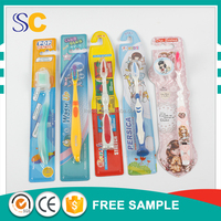 2016 new design eco-friendly hot selling plastic toothbrush for home kids hotel use