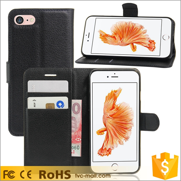 For i Phone 7 PU Leather Mobile Cover Wallet Leather Case For iPhone 7 Phone Case