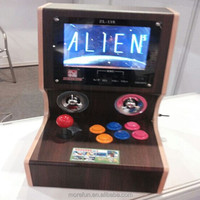 2014 new cheap wooden mini simulator arcade desktop video game console wholesale machines video game