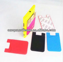 Fashion Multifuction Card holder/phone back pouch , Silicone Smart Wallet For Mobile
