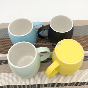 4 selecting color round belly colorful ceramic coffee mug with fashion design