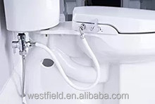 Factory Bathroom Self-cleaning Toilet Bidet Seat with Dual Nozzles Sprayer Round/Elongated
