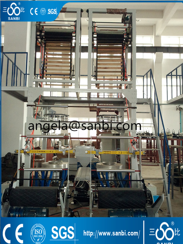 Double Heads Two Lines Film Blowing Machine,PE High Speed Extrusion