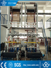 plastic extruder machine with two head ,two line