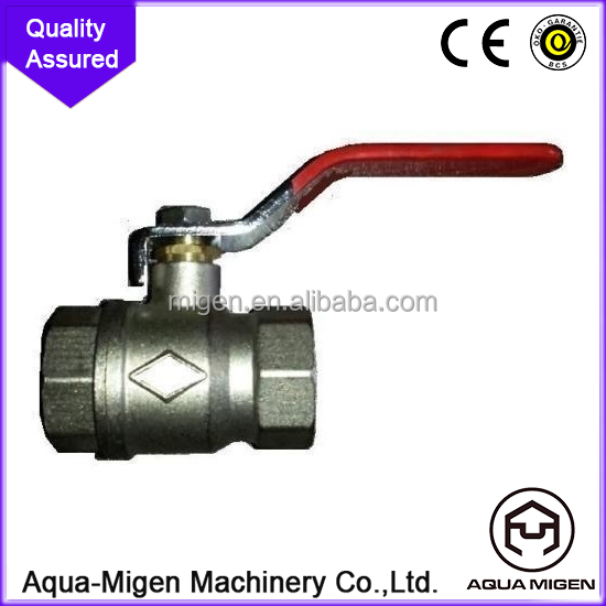 CE , ACS Butterfly handle PN25 Manual Power and Standard Bore Brass Ball Valve