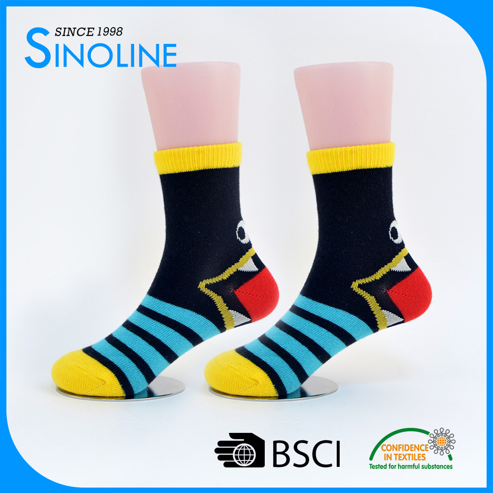 bulk make your own private label packaging box best sex cute animal sock kids wholesale/young child boy girl teen tube socks
