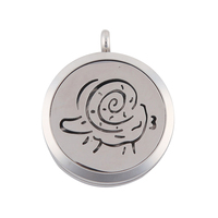 Surgical Stainless Steel Aries Aroma Essential Oil Diffuser Necklace Pendant