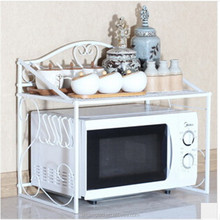 Wrought iron microwave oven rack