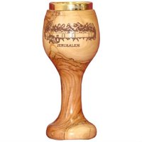 olive wood Last supper Cup