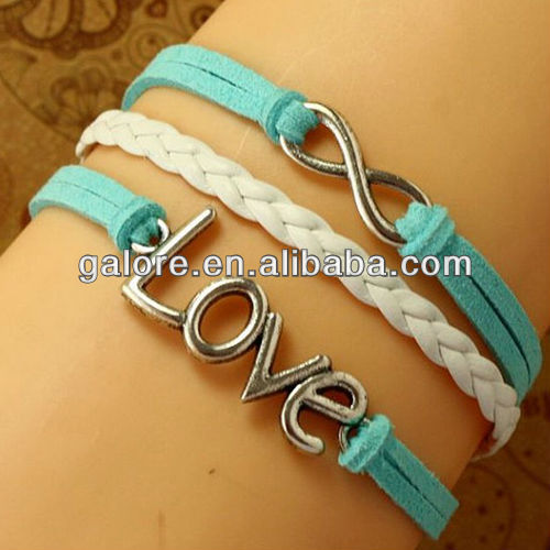 handmade turquoise colore wholesale paracord bracelet weaves style