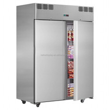 2 Years Warranty -22 Degree Fan Cooling AISI 304 Upright Commercial Freezer With CE & IEC