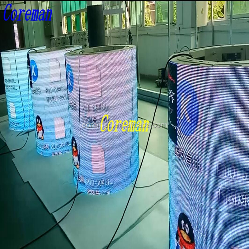 new design full color led display outdoor video led display board four side six side p2 p3 p4 p5 p6 p7 p8 p10