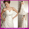 SD1144 mid open back zipper empire waist A line wedding dresses taffeta wedding dress pattern