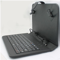 "Top sale Pu Folding Leather Case Keyboard for 7"" Inch Tablet Pc"