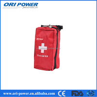 OP wholesale FDA CE ISO approved small red compact car first aid kit for emergency