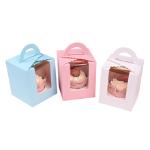Cupcake Handle Box Cake Boxes with clear window