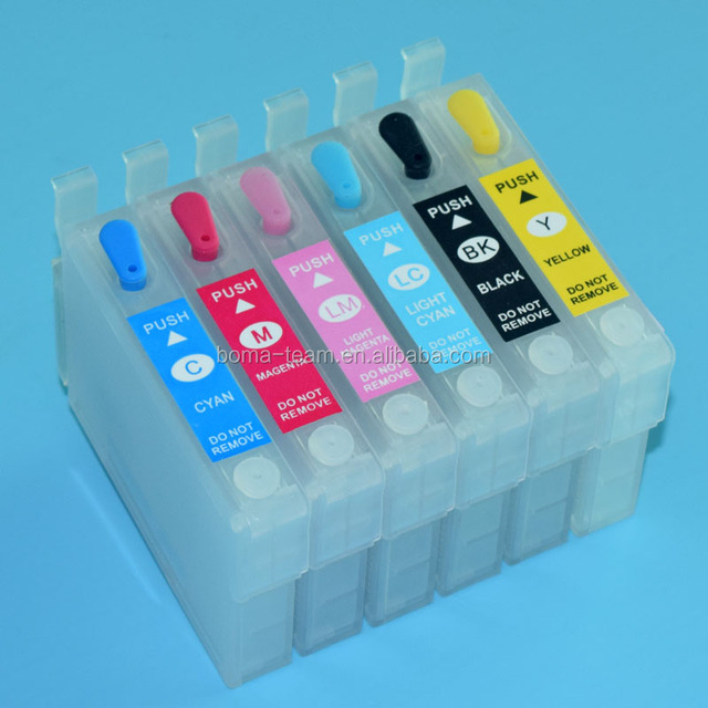 Empty refillable ink cartridge for EPSON PHOTO 1390 R330 printer ink cartridge T0851N~T0856N